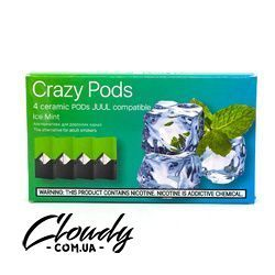 Crazy Pods - Cartridge Ice Mint 0.7ml 50mg (4 шт)