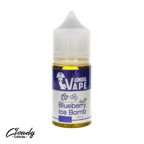 Admiral Vape - Salt Blueberry Ice Bomb 30 ml 35 mg