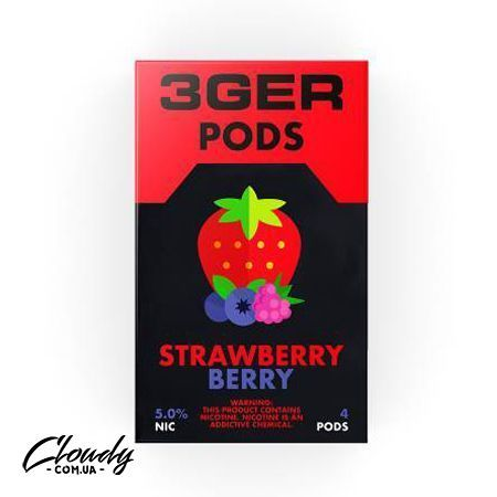3Ger Pods - Cartridge Strawberry Berry 50 мг 1 мл (4 шт)