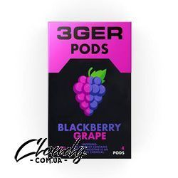 3Ger Pods Blackberry Grape 50 мг 1 мл (4 шт) Фото№21